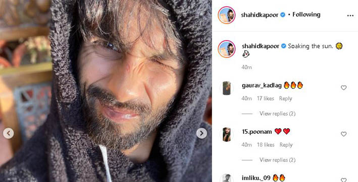 shahid kapoor channels weekend mood with sunkissed pictures