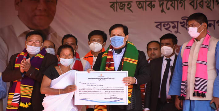 sonowal lays foundation for three flood and erosion mitigation schemes in majuli
