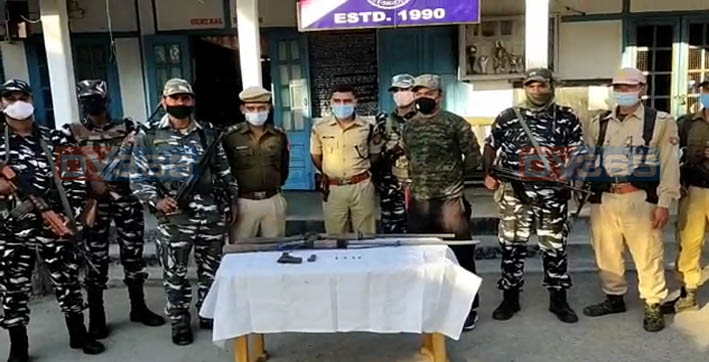 two country-made rifles pistol recovered from kachugaon ahead of btc polls
