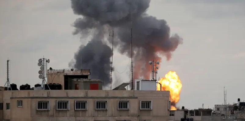 idf carries out strikes in gaza