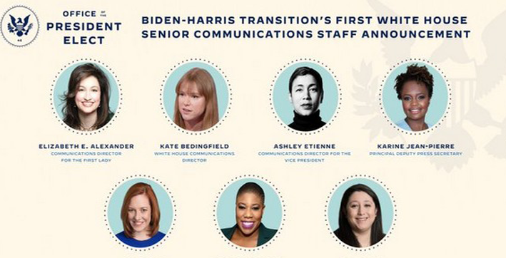 biden-harris announce all-women white house communications team