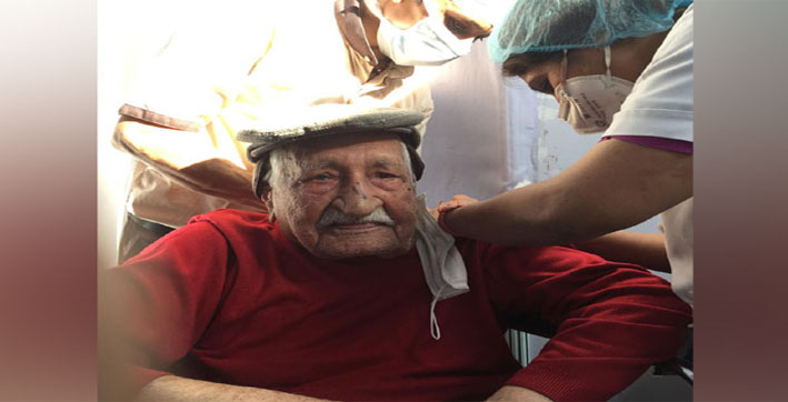 104-year-old administered COVID vaccine at Delhi's Ganga Ram Hospital, urges all to take a shot