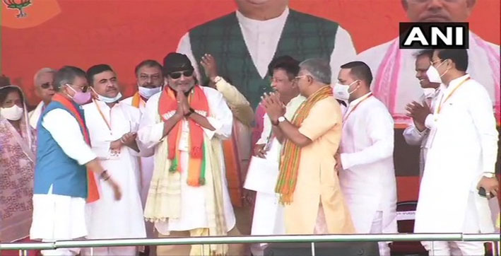 West Bengal Assembly polls: Actor Mithun Chakraborty joins BJP