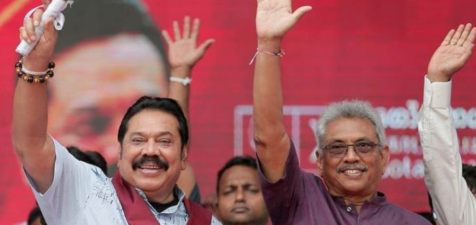 rajapaksa brothers sweep sri lanka polls secure 145 seats