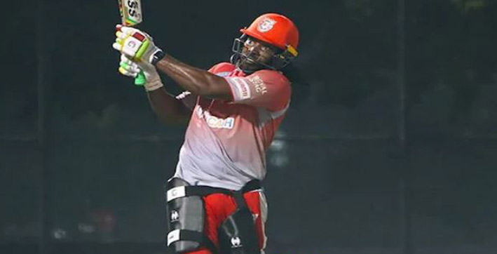 gayle suffers from food poison misses match against srh