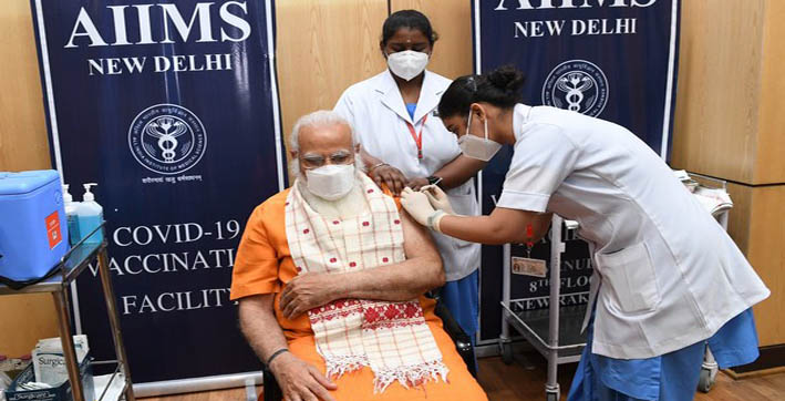 pm-modi-receives-second-dose-of-covid-19-vaccine