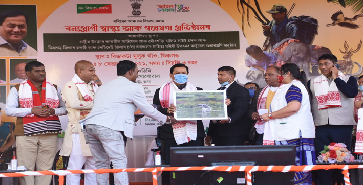 sonowal lays foundation stone of wildlife health and research institute at dibrugarh