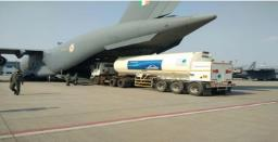 IAF starts airlifting oxygen tankers to filling stations to speed up supply