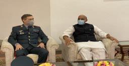 Rajnath Singh meets Kazakhstan counterpart Nurlan Yermekbayev