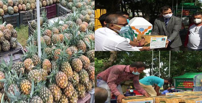 tripura-cm-sends-pineapples-for-bangladesh-pm