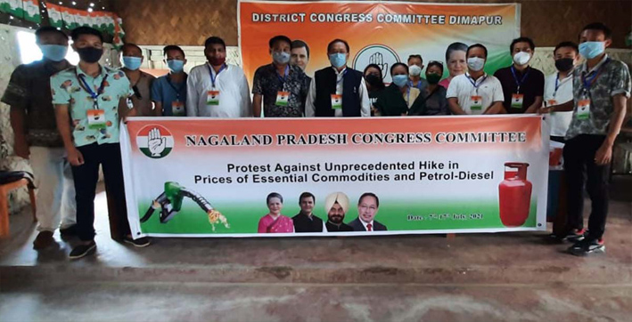 nagaland-congress-protest-against-fuel-price-hike