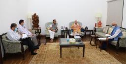 Assam CM Himanta Biswa Sarma Apprises Amit Shah About Progress on Implementation of Central Schemes